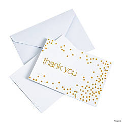 Gold Foil Thank You Notes