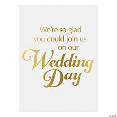 Gold Foil Wedding Day Sign
