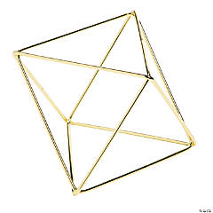 Gold Geometric Triangular Centerpiece Decorations