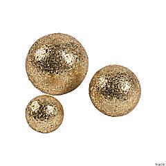 Gold Glitter Balls