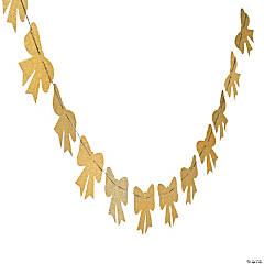 Gold Glitter Bow Tie Garland