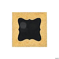 Gold Glitter Chalkboard Frame