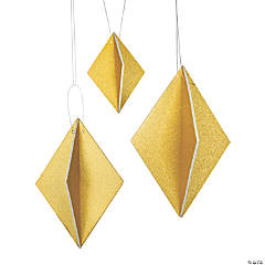 Gold Glitter Diamond Hanging Decorations