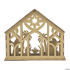 Gold Glitter Nativity Tabletop Décor