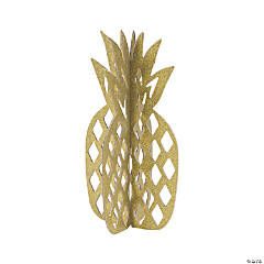 Gold Glitter Pineapple Centerpiece