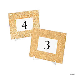 Gold Glitter Table Frames
