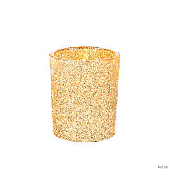 Gold Glitter Votive Candle Holders
