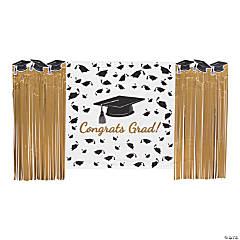 Gold Grad Backdrop Decorating Kit