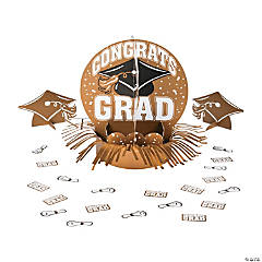 Gold Graduation Party Table Decorating Kit
