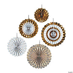 Gold Hanging Fan Assortment
