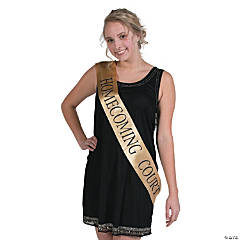 Gold Homecoming Court Sash