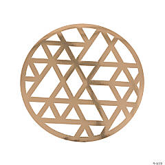 Gold Laser-Cut Chargers