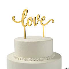 Gold Love Cake Topper