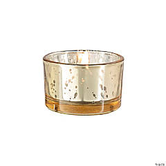 Gold Mercury Glass Tea Light Candle Holders