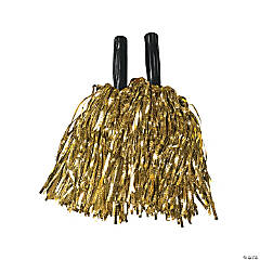 Gold Metallic Cheer Pom-Poms - 12 Pc.