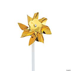 Gold Metallic Pinwheels - 36 Pc.