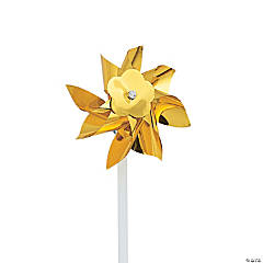 Gold Metallic Pinwheels