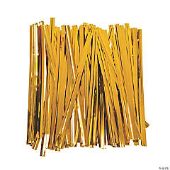 Gold Metallic Twist Ties