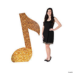 Gold Music Note Stand-Up