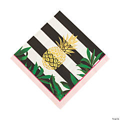 Gold Pineapple Luncheon Napkins