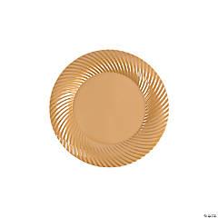Gold Plastic Dessert Plates - 25 Ct.