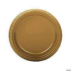 Gold Plastic Dinner Plates - 20 Ct.