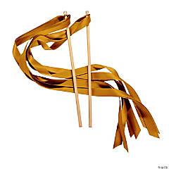 Gold Ribbon Wands