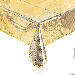 Gold Sequined Tablecloth