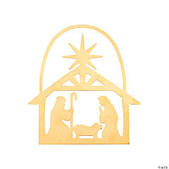 Gold Silhouette Holy Family Ornaments