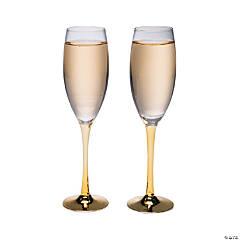 Gold Stem Champagne Flute Set