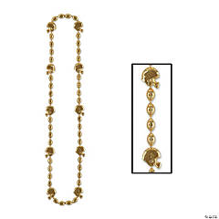 Gold Team Spirit Football Beaded Necklaces