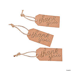 Gold Thank You Favor Tags
