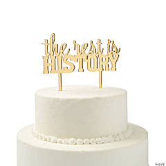 Gold The Rest is History Cake Topper
