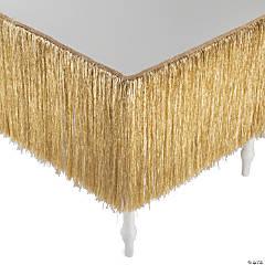 Gold Tinsel Table Skirt