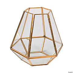 Gold Trim Open Top Terrarium