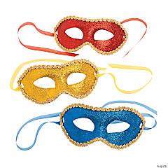 Gold Trimmed Glitter Mask Assortment