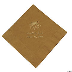 Gold Wedding Bells Personalized Napkins with Gold Foil - Luncheon