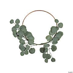 Gold Wreath with Silver Dollar Eucalyptus