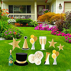 Golden Celebration Icon Yard Sign Kit