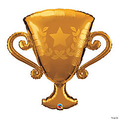 "Golden Trophy Shaped 39"" Mylar Balloon"