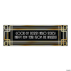 Personalized Small Roaring '20s Vinyl Banner