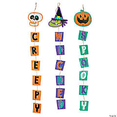 Goofy Ghouls Hanging Halloween Decorations