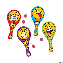 Goofy Smile Face Paddleball Games PDQ