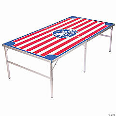GoPong Regulation Size 8' x 4' Beer Die Table with 50 Dice - American Flag Inspired Design