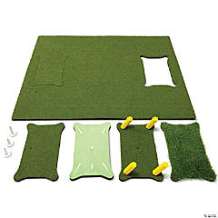 GoSports 5'x4' PRO Golf Practice Hitting Mat, Includes 5 Interchangeable Inserts for the Ultimate At-Home Instruction