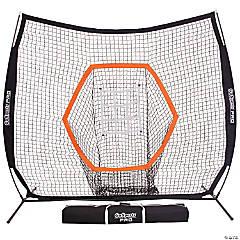 GoSports 7'x7' PRO Baseball & Softball Practice Hitting & Pitching Net with Bow Type Frame, Carry Case and Bonus Strike Zone, Ultimate Training Net