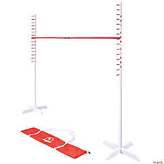 GoSports Get Low Limbo Premium Wooden Limbo Game, Sets up in Seconds - Fun for Kids & Adults, White, Red