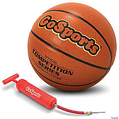 GoSports Indoor Synthetic Leather Competition Basketball with Pump - Size 7