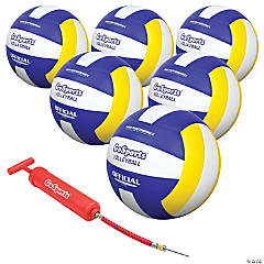 GoSports Indoor Volleyballs - 6 Pack