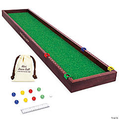GoSports Mini Bocce Tabletop Game Set for Kids & Adults - Includes 8 Mini Bocce Balls, Pallino and Case